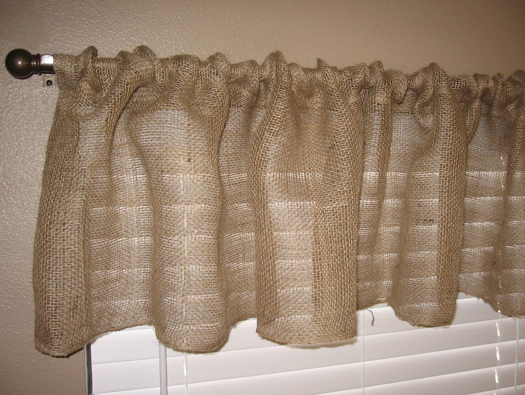 Burlap Kitchen Curtains