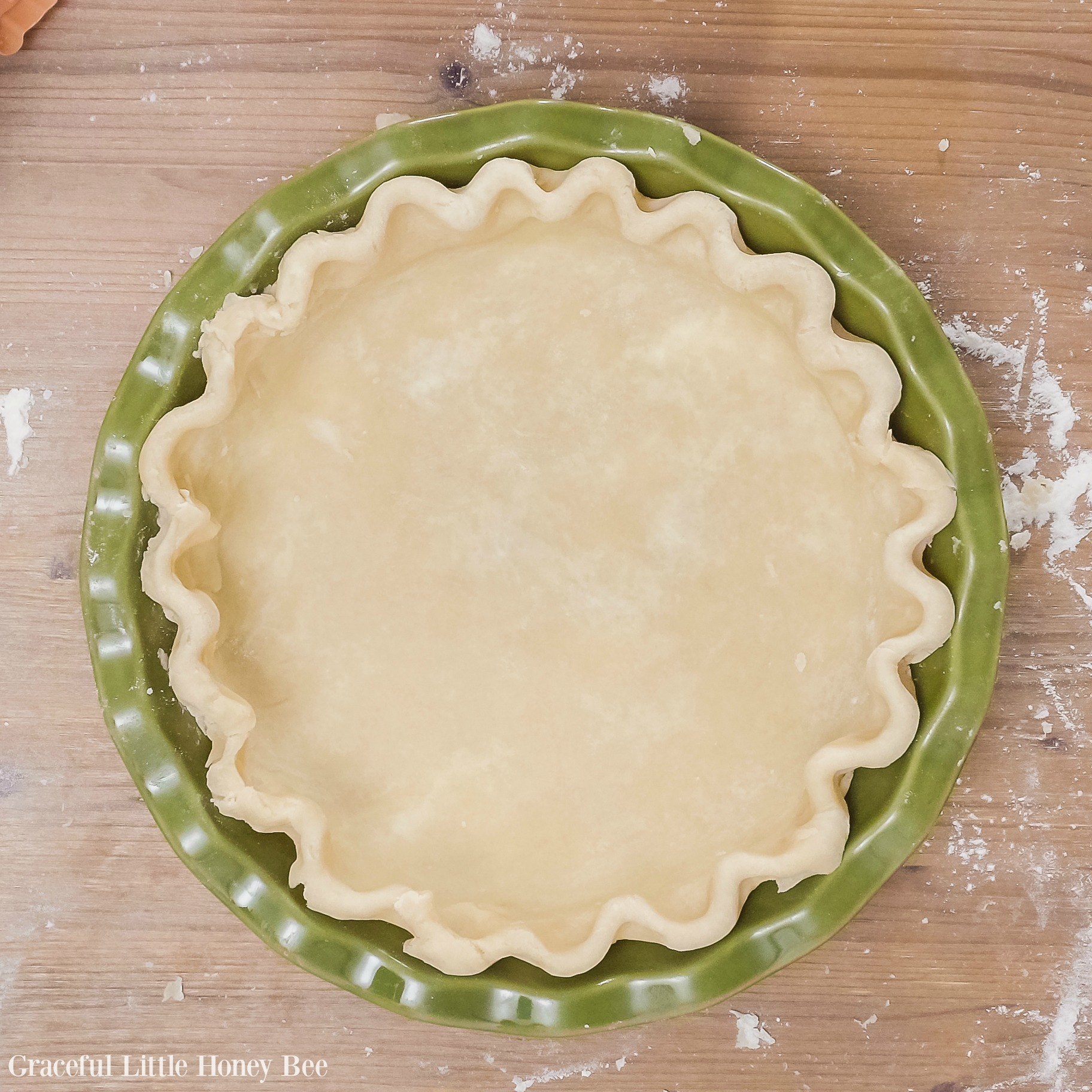 Simple Pie Crust Using 4 Easy Ingredients Graceful Little Honey Bee