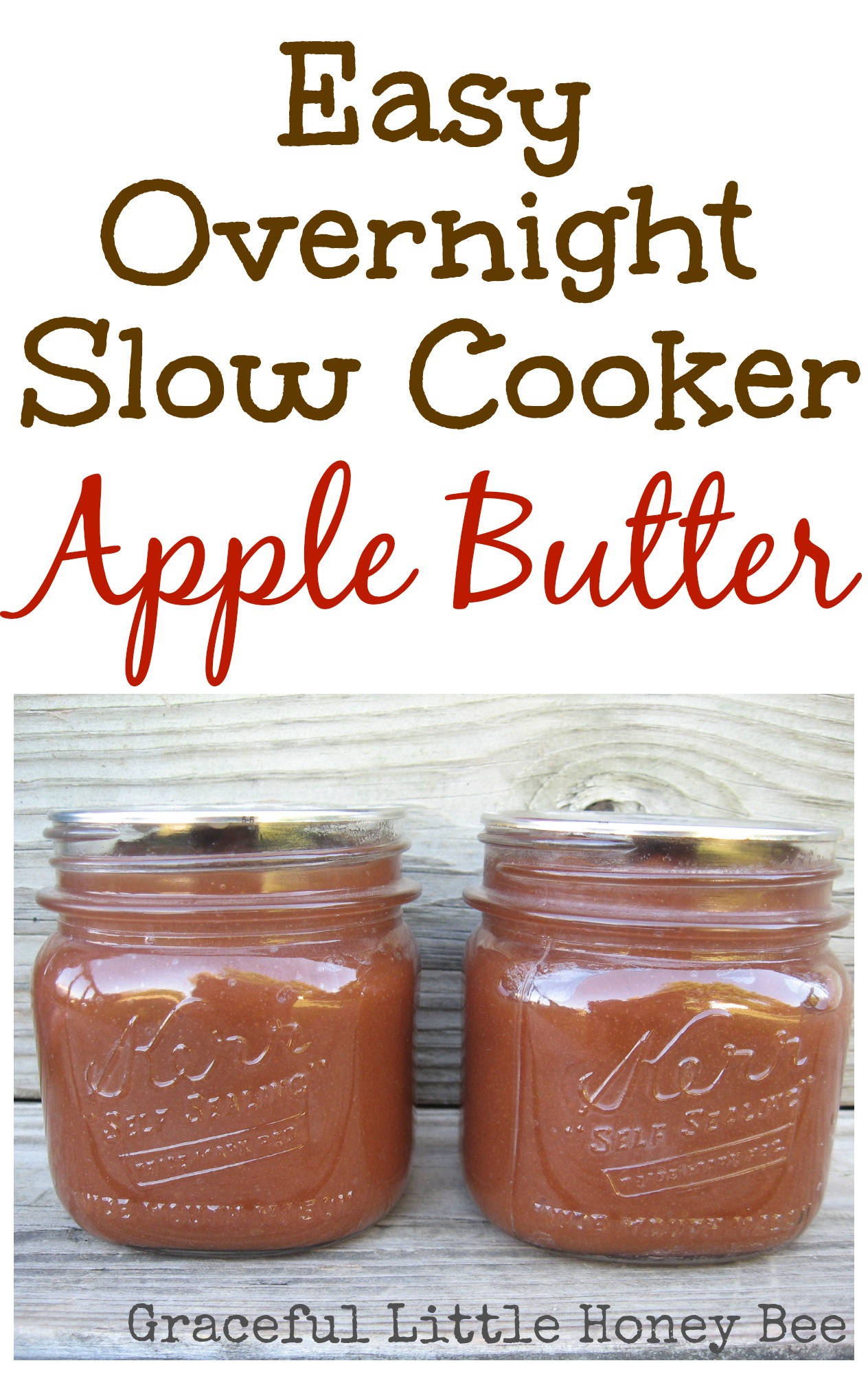 Slow Cooker Apple Butter - Graceful Little Honey Bee