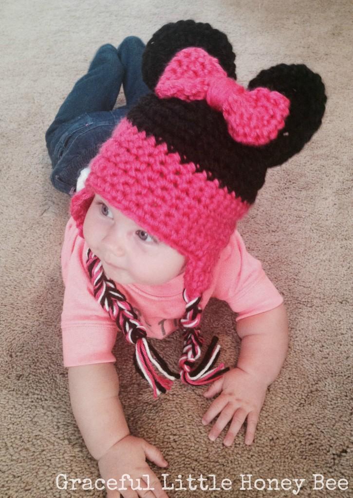 Crochet Minnie Mouse Hat Graceful Little Honey Bee