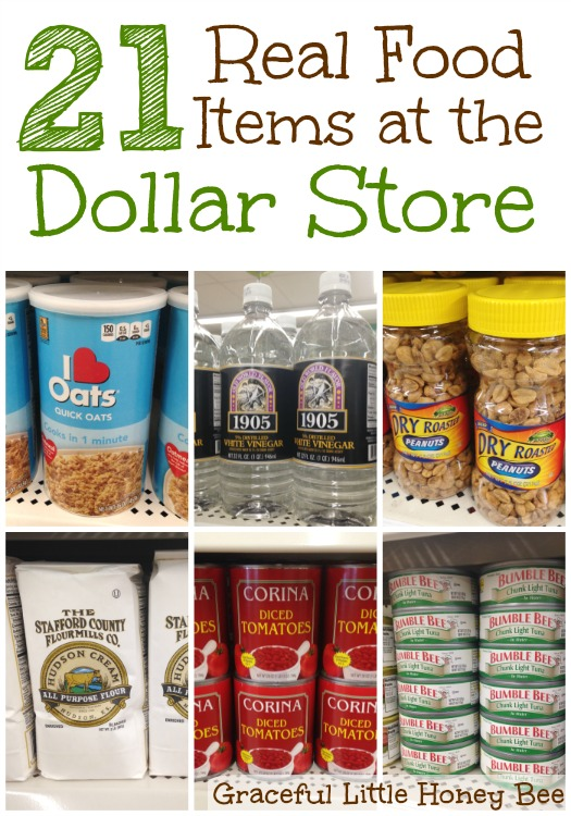 21 real food items at the dollar store graceful little for Dollar store items online