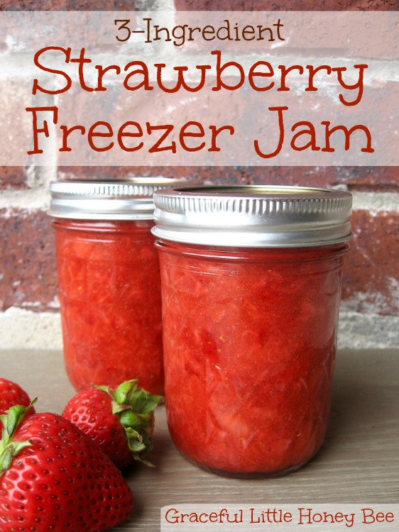 Strawberry Freezer Jam with Video - Graceful Little Honey Bee