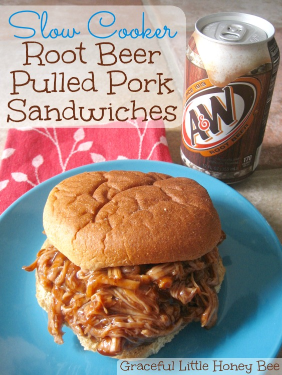Slow Cooker Root Beer Pulled Pork Sandwiches - Graceful Little Honey ...