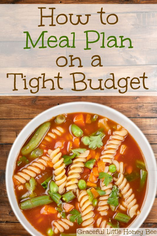 How To Meal Plan On A Tight Budget FREE WEEKLY MEAL PLAN PRINTABLE Gracef