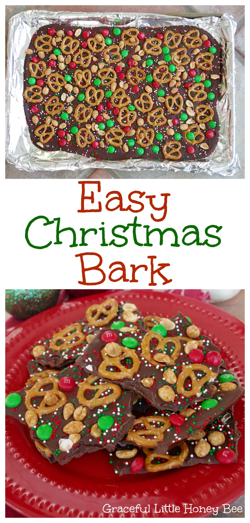 Easy christmas bark graceful little honey bee for Easy holiday baking recipes for gifts