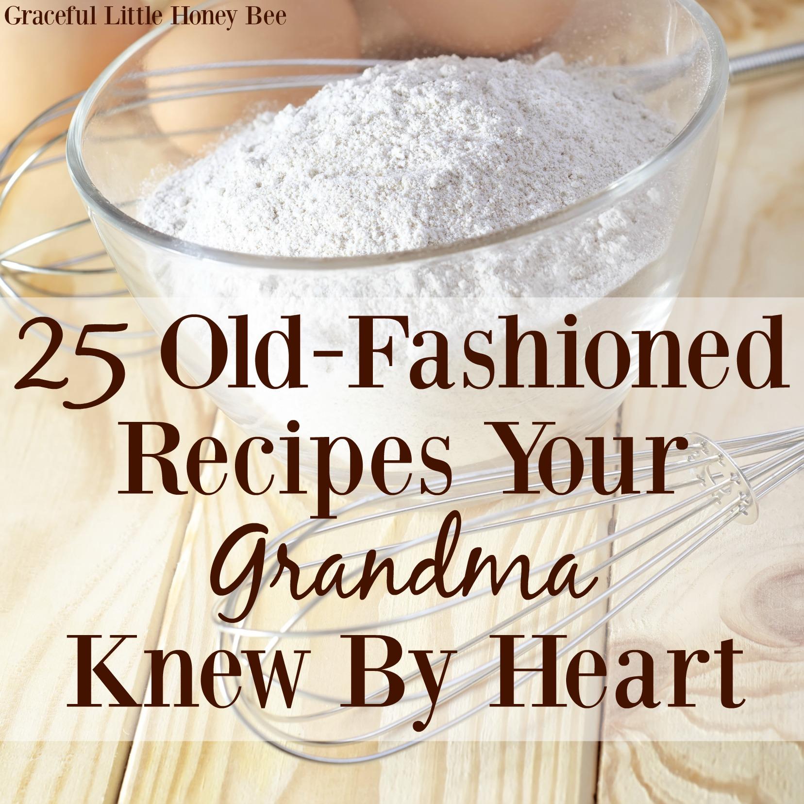 Graceful Little Honeybee  Old Fashioned Recipes