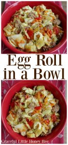See how to make this healthy and delicous Egg Roll in a Bowl recipe on gracefullittlehoneybee.com