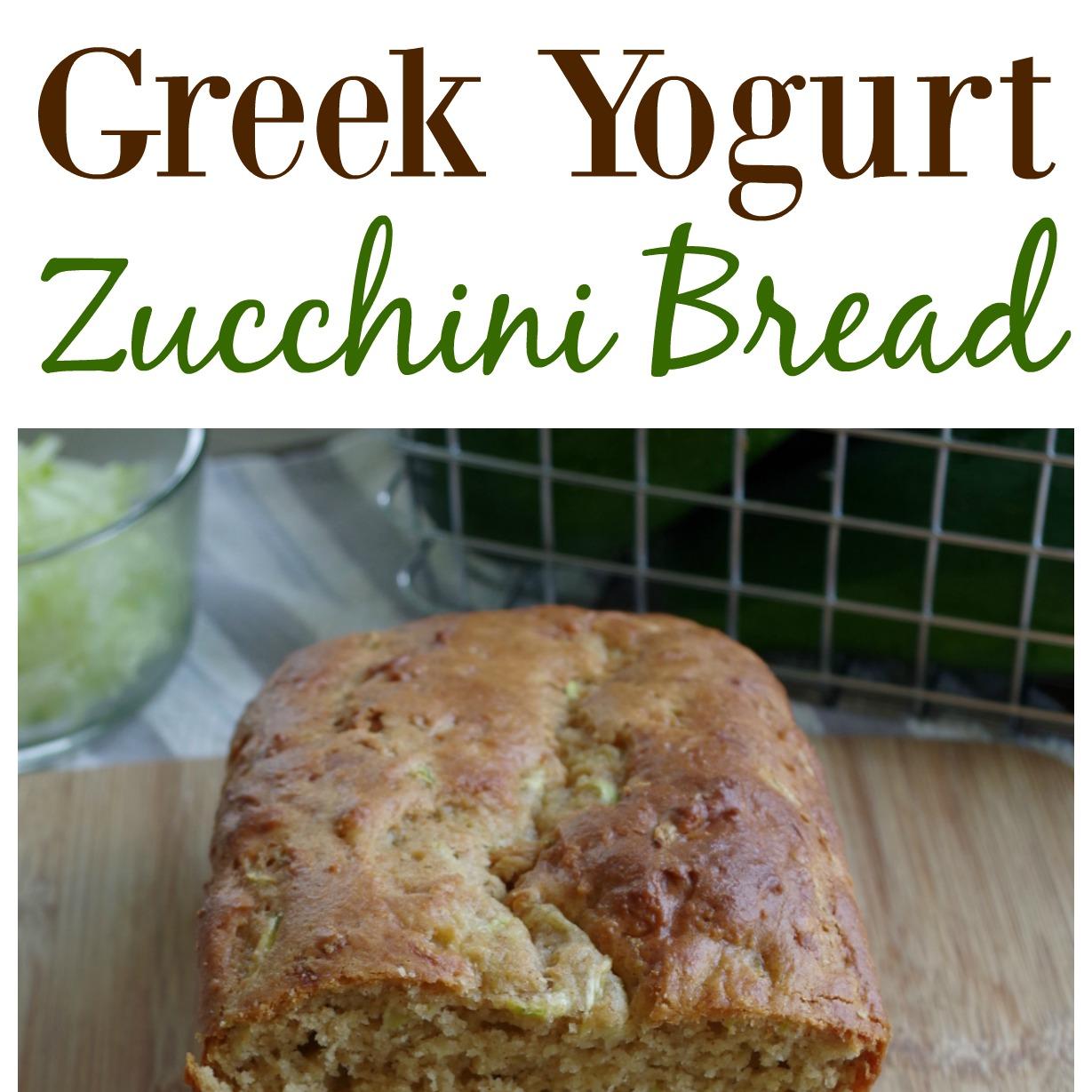 Greek Yogurt Zucchini Bread - Graceful Little Honey Bee