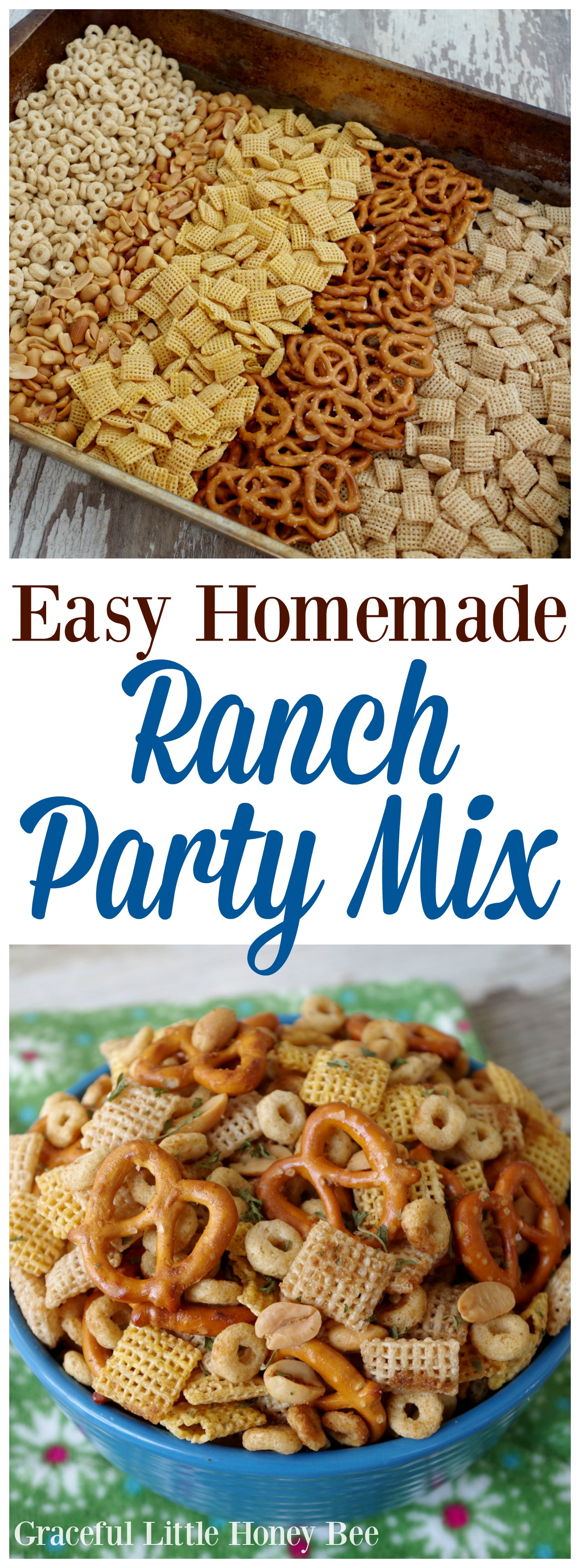 Easy homemade ranch party mix graceful little honey bee for Easy ranch