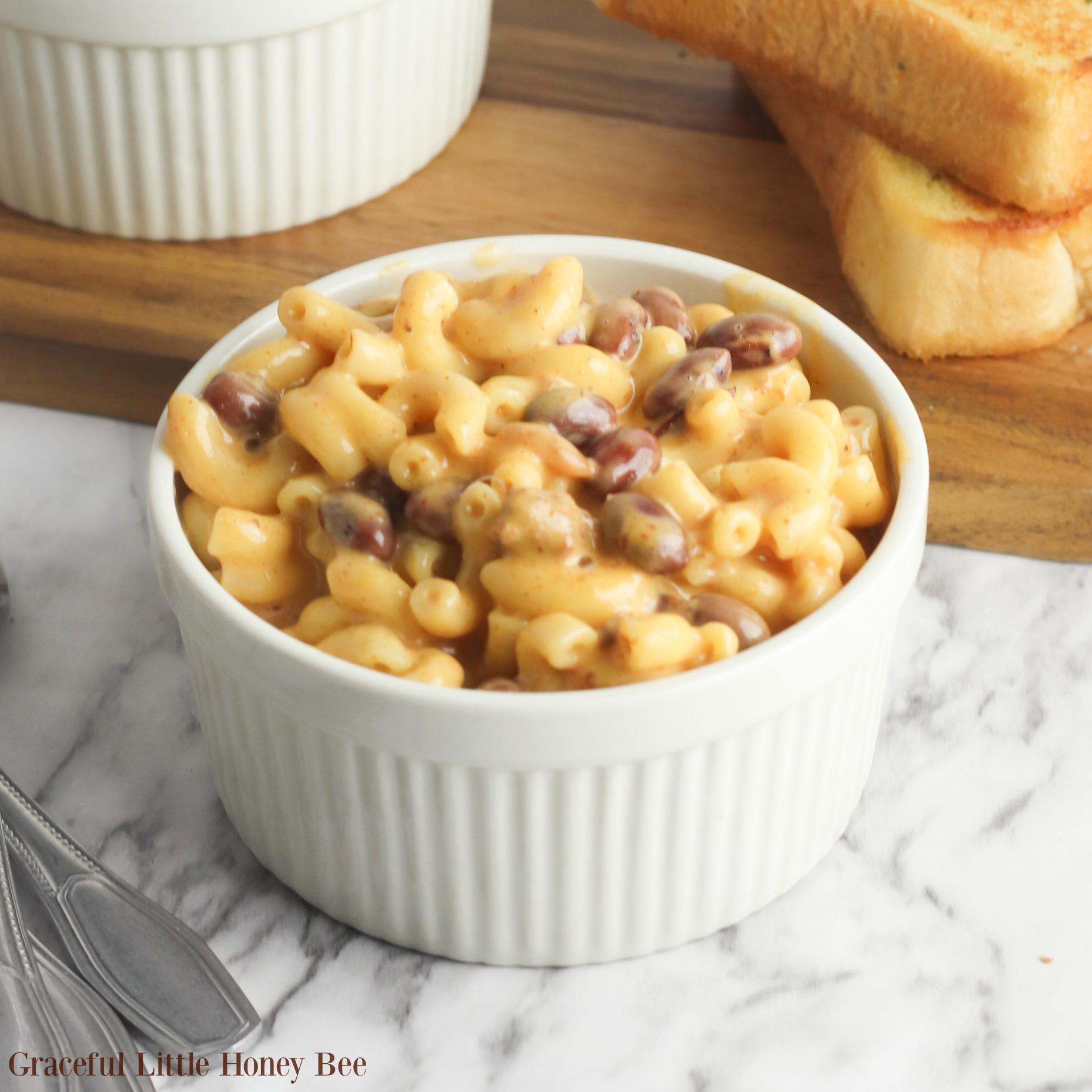 Mac N Cheese With Beans